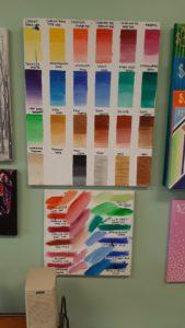 Acrylic Paint Chart