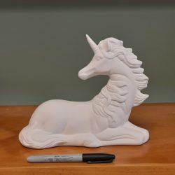 Large Laying Unicorn