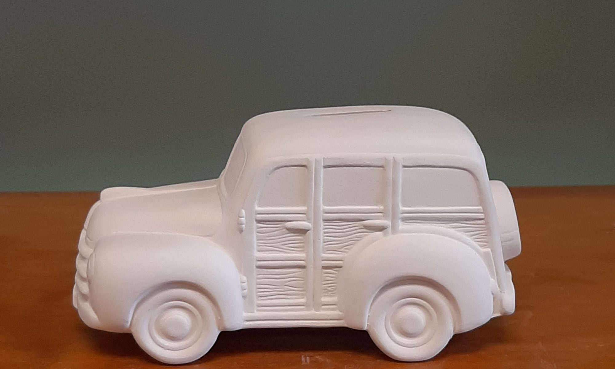 Woody Wagon Ceramic Bank