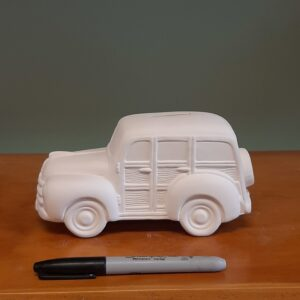 Woody Wagon Ceramic Bank