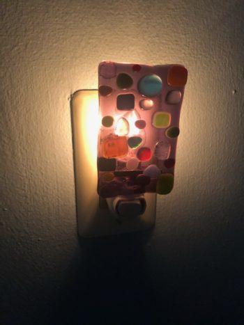Fused Glass Night Light - On