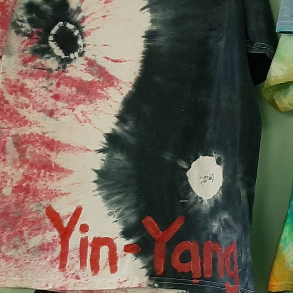 Yin-Yang Tie Dye Design
