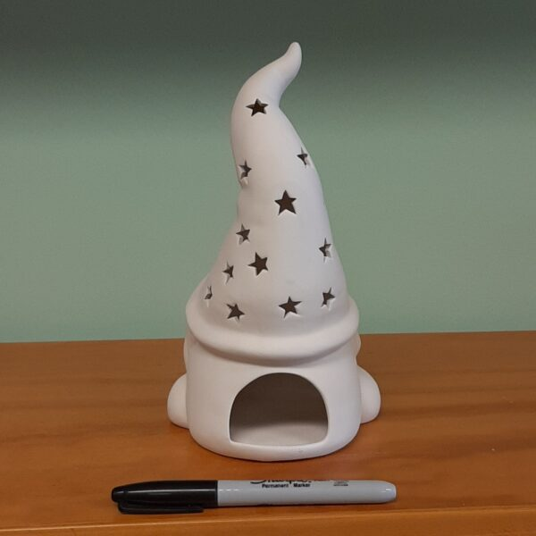Tall Hatted Gnome Lantern Back View