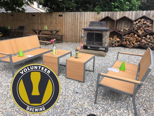 Volunteer Brewing Company Yard and Logo