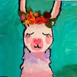 Lllama Canvas Painting