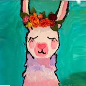 Lllama Canvas Painting