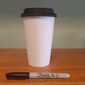 Coffee House Style Travel Mug  with Silicone Lid